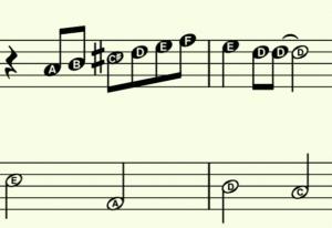 Piano-Lieder für Anfänger mit Buchstaben zum spielerischen Noten-Üben